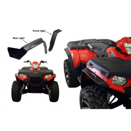 Kit D'extension D'ailes Direction 2 Noir Polaris Sportsman 500 800 10-14