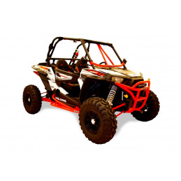 "Renfort arceau avant DRAGONFIRE RacePace ""Flying V"" rouge Polaris RZR 900s,1000 tous modeles"